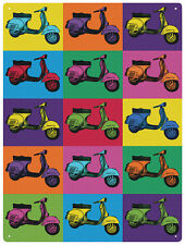 Vespa Pop Art Scooter Moto Metal Lata Pared Arte Cartel Placa 30 * 40 Cm 50900