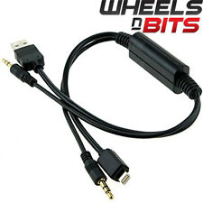 USB Y Cable to AUX Adaptor For BMW & BMW MINI Cooper iPhone 5 5C 6 interface