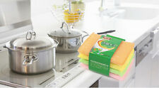 4Pcs Kitchen Dish Towels with Vintage Design, Absorbent Natural Cotton HUCA