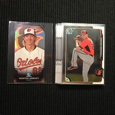 2015 BOWMAN CHROME BALTIMORE ORIOLES MASTER TEAM SET 8 CARDS  TOUGH INSERTS +