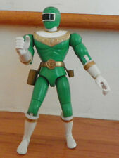 "Bandai POWER RANGER ZEO Green Figure 1996 Electronic, Sound, Used 8"" articulated"