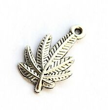 10Pcs Alloy Metal Leaf Beads Finding