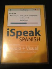 ISpeak Spanish Audio + Visual Phrasebook for your IPod by Alex Chapin (2007, CD-