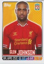 N°136 GLEN JOHNSON # ENGLAND LIVERPOOL.FC STICKER TOPPS PREMIER LEAGUE 2014