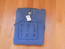 NWT Hollister Malibu Hoodie Blue Large By Abercrombie & Fitch