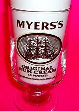 MYERS'S ORIGINAL RUM CREAM Imported Cocktail Stem Rocks Glass Mixed Drink Cup
