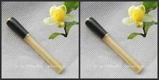 2pcs Long Small Delicate Natural OX Horn Pipe Brass Cigarette Holder 3 1/4""