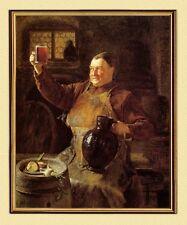 GRÜTZNER BRAUMEISTER BEI DER BROTZEIT um 1881 auf LEINWAND 11 im Goldrahmen
