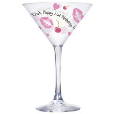 Personalised Birthday Cocktail Glass For Her 18th 21st 30th Gift Sister Friend