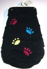 THE GRACIE PAW PRINT SWEATER COMPANION ROAD PET FASHIONS DOG X SMALL NOS