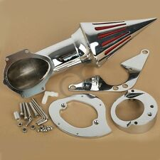 Chrome Spike Cone Air Cleaner Intake Filter Kits For Yamaha Road Star 1600 1700