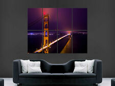 SAN FRANCISCO GOLDEN GATE BRIDGE  GIANT WALL POSTER ART  PRINT LARGE HUGE