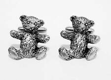Teddy Bear Cufflinks in Fine English Pewter, Handmade, Gift Boxed (hin)