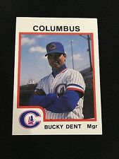 BUCKY DENT ODD BALL COUMBUS YANKEES MINOR LEAGUE 1987 MANAGER BASEBALL CARD