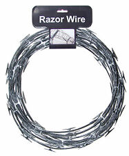 Razor Barbed Wire Barbwire Jail Haunted House Halloween Decor Realistic Fake