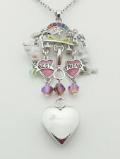 KIRKS FOLLY RAINBOW BRIDGE CREMATION KEEPSAKE CHARM NECKLACE SILVERTONE
