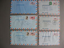 FRANCE, 12x prestamped aerogramme Concorde Fr 1.60 1978 / 3.90 1987, used or CTO