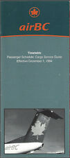 Air BC system timetable 12/1/94 [6102] Buy 2 Get 1 Free