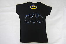 BATMAN BLUE FLAME EMBLEM LADIES SKINNY T SHIRT SMALL BNWT OFFICIAL DC COMICS WB