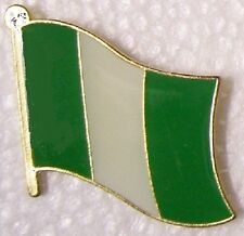 Hat Lapel Pin Tie Tac Push Flag of Nigeria NEW