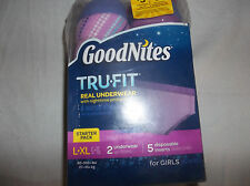 GoodNites Tru-Fit Real Underwear Nighttime Protection Starter Pack  Girls L/XL