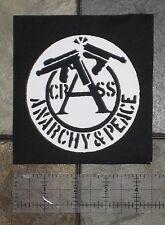 CRASS Patch Extreme Noise Terror Aus-Rotten Disfear Napalm Death Crust Punk DIY
