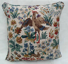Sanderson Fabric Cushion Cover 'Cluny' Cream/Brown - Linen Mix - Classic Linens