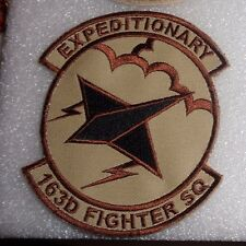 USAF FLIGHT SUIT PATCH,163RD EXPEDITIONARY FIGHTER SQN,IN ANG,DESERT,W/VELCR