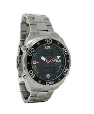 Fila FA0602-G Technosport Men's Round Carbon Analog Digital Chronograph Watch