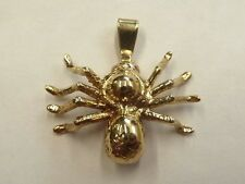 9ct Solid Yellow Gold Spider Pendant  6.7 grams