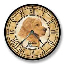 Golden Retriever Wall Clock - Color Pencil Sketch - Old World Look