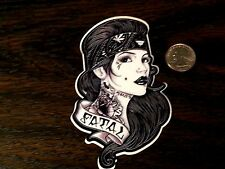SO CAL FATAL Snappy Pin Up Girl Sticker Car Window Decal WestCoast Crew Tattoo