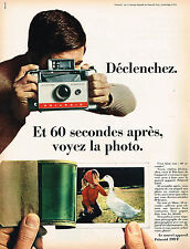 PUBLICITE ADVERTISING 045  1966  POLAROID   photo  LAND CAMERA AUTOMATIC 104