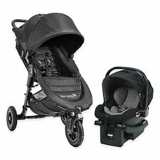 Baby Jogger 2016 City Mini GT Travel System Black w/ Stroller & City Go Car Seat