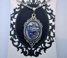 Harry Potter, Ravenclaw, Hogwarts House Crest Silver Cameo Cabochon Necklace