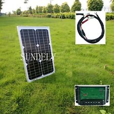 20w Light Weight Solar Panel + 10A 12v 24v Battery Charger Controller + 3m cable