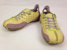 Diesel Arras Womens Shoes 6.5 Leather Yellow Purple Athletic Sneakers S5 09 LS