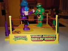 TMNT Totally Awesome Duelin' Dudes Mike Shredder Rock'em Sock'em Boxing RARE