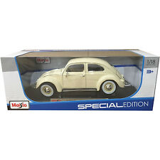 Maisto 1955 VW Volkswagen Beetle Kafer 1:18 Diecast Model Car Cream