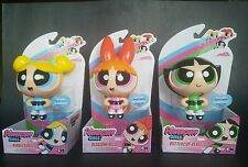 The powerpuff girls by Spin Master Set of 3 Action eyes doll w/stand to display
