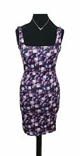 MISSGUIDED Dress Size 6 Purple White *NEW w/ TAGS* Bodycon L33in Party Stretch