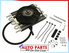 TRANSMISSION Oil Cooler w/ fan 8'' Heavy duty performance Universal FITS ALL CAR