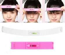 2PCS Professional Hair Cutting Clip Comb Tool Trim Bangs Hairstyle Fringe Pink
