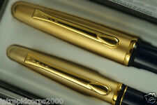 Made in Italy and Packaged in USA Yafa Golden Brass Fountain and Selectip Pens