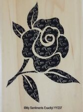 NEW MSE! My Sentiments Exactly! Mounted Wood Rubber Stamp YY237 Romance Rose