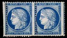 1870-73 FRANCE #58 PAIR - CERES ISSUE MOGNH - F - CV $250.00 (ESP#8540)