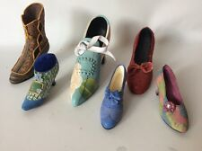 Lot Of 6 Resin Victorian Shoes Boots Red Slipper Heels Just The Right