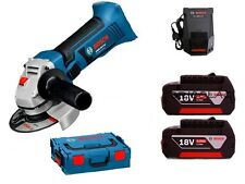 CORDLESS SMALL ANGLE GRINDER BOSCH GWS 18V-LI WITH 2 LITIUM BATTERIES 4,0 Ah