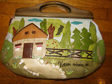 AUTHENTIC ONE OF A KIND BRACCIALINI TUA HOME SWEET HOME AMAZING CLUTCH TOTE BAG