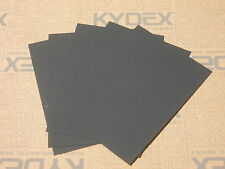 5 PIECES KYDEX T SHEET 297 X 210 X 2MM A4 SIZE (P-1 HAIRCELL BLACK 52000)